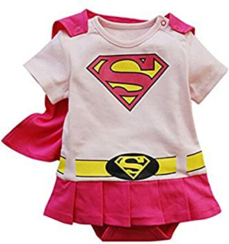 Disfraz de superheroína para bebés o niñas pequeñas rosa Pink cape ...