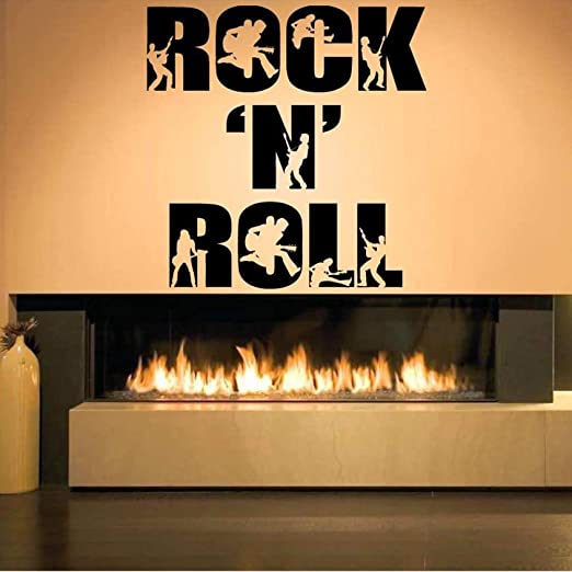 jiuyaomai Rock N Roll Palabras Figuras Extraíbles Pegatinas de ...