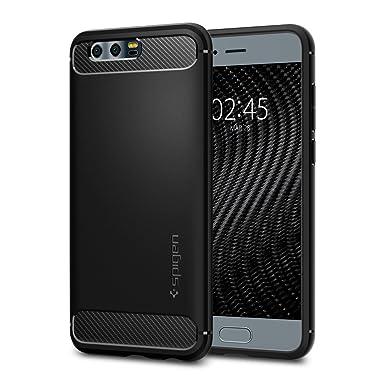 spigen Funda Huawei Honor 9, Carcasa [Rugged Armor] Absorción de Choque Resistente y diseño de Fibra de Carbono para Huawei Honor 9 [Negro Mate]