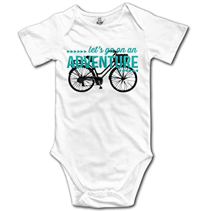 a91df19ed Amazon.com  Let s Go On an Adventure Bike Travel Infant Girls Cute ...