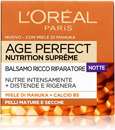 L'Oréal - Age Perfect Nutrition Supreme - Crema nutritiva de noche para piel madura - 50 ml