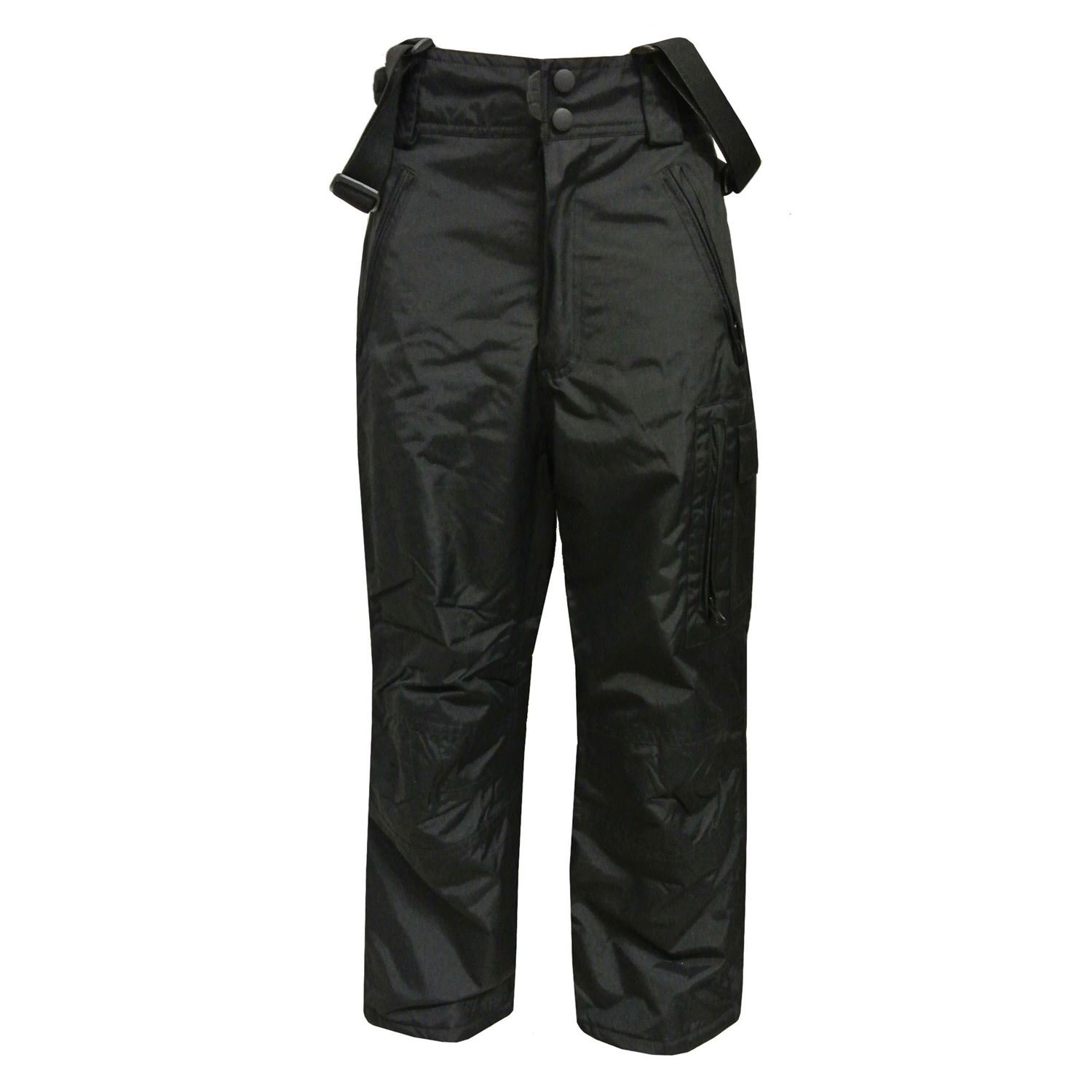 Outburst - Ski pants snow pants 10,000 mm water column ski pants snow pants boys, black