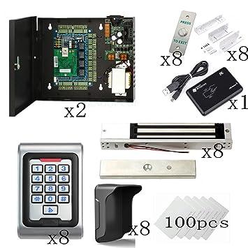 Amazon.com: Kit de control de acceso de 8 puertas con ...