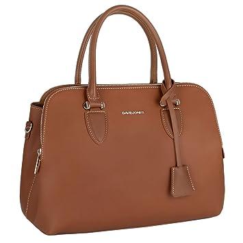 51131383ab8b3 David Jones - Damen Handtasche Henkeltasche Bugatti - Tote Shopper  Echtleder Stil Schultertasche - Multi Pocket