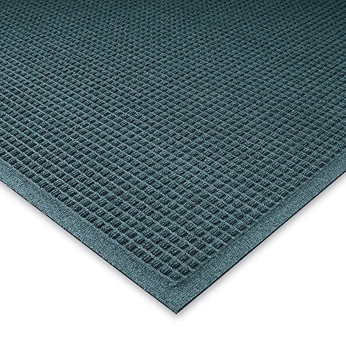 Andersen Waterhog Waffle Design Mat - 4X6' - Fabric Border - Bluestone - Bluestone - - Fabric Bluestone