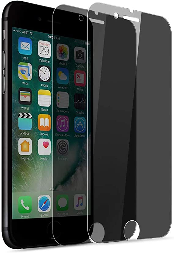 Tempered Glass Screen Protector Compatible with iPhone 8 Plus 3 Pack iPhone 7 Plus Fit with Most Cases uShield Privacy Screen Protector for iPhone 8 Plus 7 Plus 3 Pack w//Installation Frame