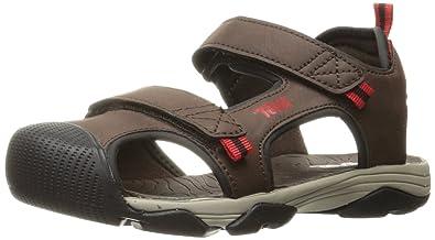 dc8fa340a5c1 Teva Boys  Toachi 4 Sandal Chocolate Black Red 2 M US Little Kid