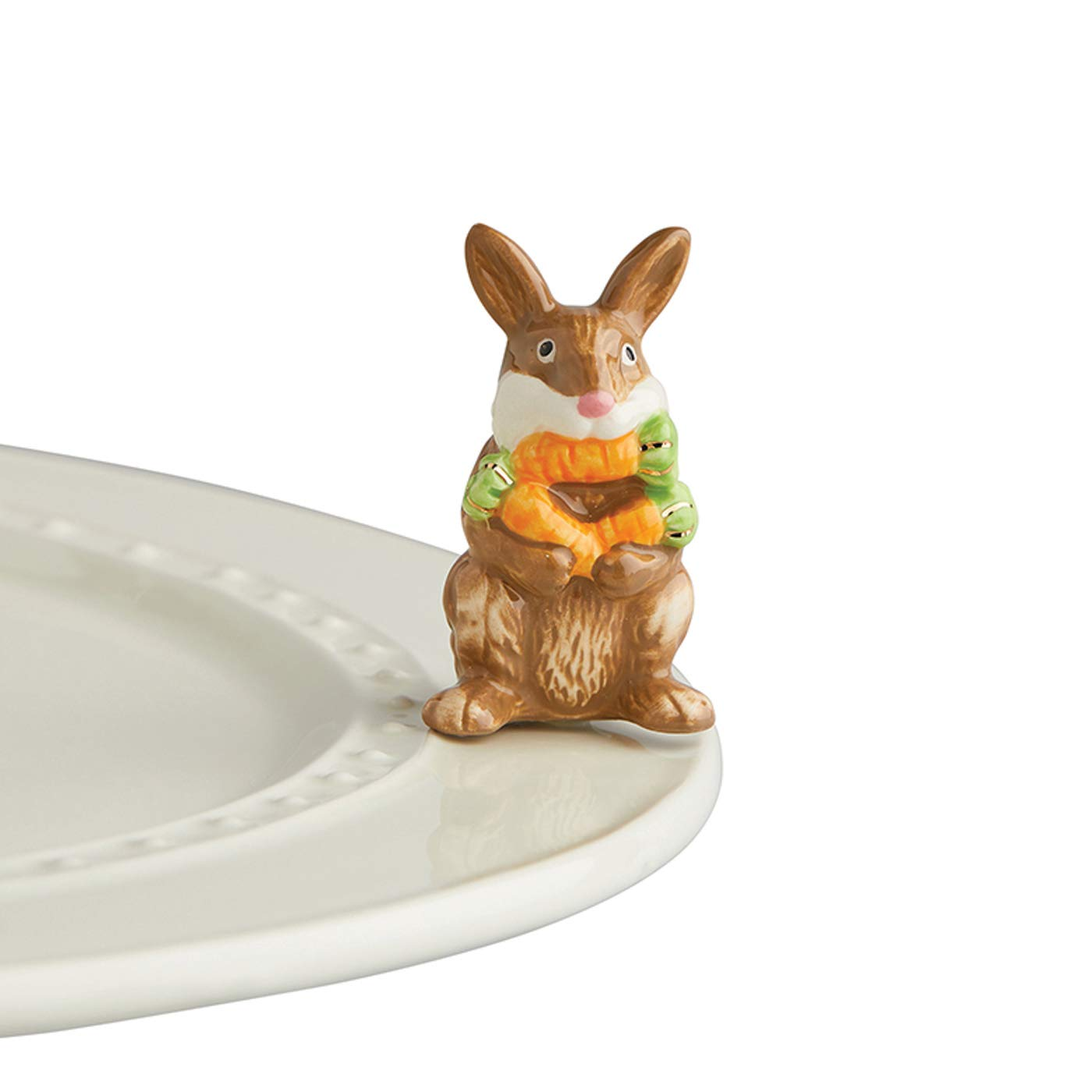 Nora Fleming Hand-Painted Mini: Funny Bunny (Brown Bunny) A226