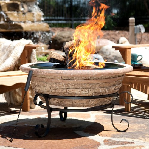 Imperial MW1282 Old Frontier Brick Magnesia Fire Pit 30 Inch