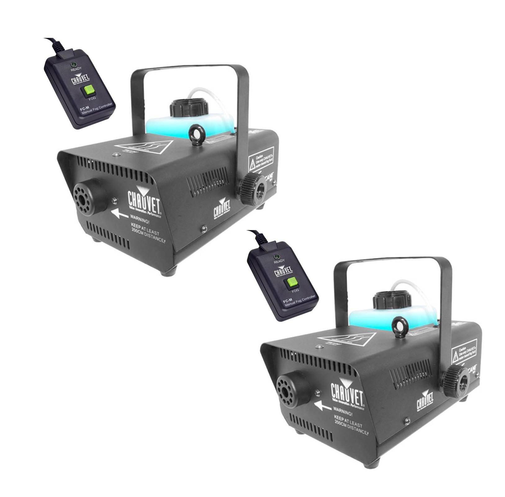 2 CHAUVET HURRICANE H-901 DJ Water-Based Smoke Fog Machines w/Wired Remote H901 by Chauvet DJ