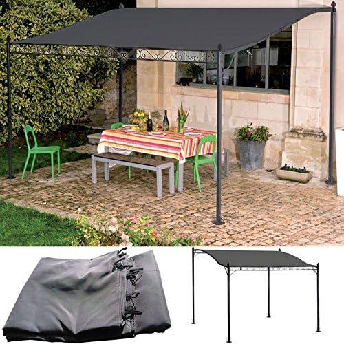 idmarket – Cenador de jardín 3 x 2.5 M toldo Pergola lienzo ...