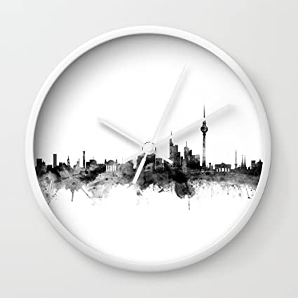 Society6 Berlín Alemania Skyline – Reloj de pared