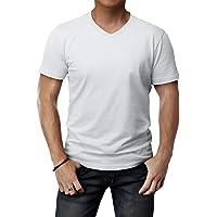 f661fdec1bde H2H Mens Casual Slim Fit Short Sleeve T-Shirts Cotton Blended Soft  Lightweight V-