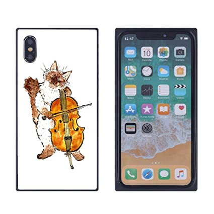 Amazon Com Iphone Xs Max Cat Playing The Cello Case Soft