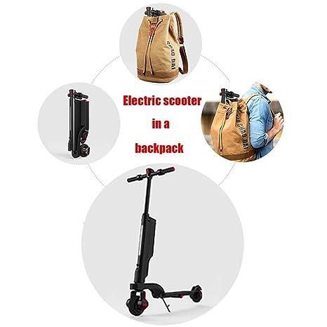 DUNNE Scooters eléctricos Adulto Plegable 5.5 Pulgadas ...