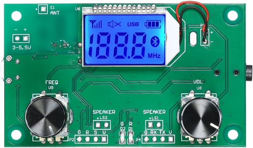 Kkmoon Dsp Pll Lcd Digital Stereo Fm Radio Wireless Receiver Modul 87 108mhz Baumarkt