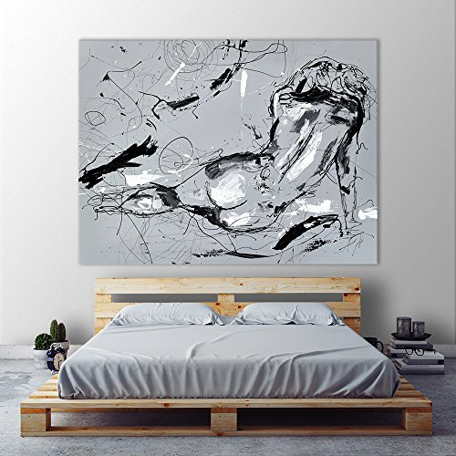Giant Art GI98602K8 Nude Figure 3 Huge Contemporary Men And Women Giclee Canvas Print, 72 x 54""