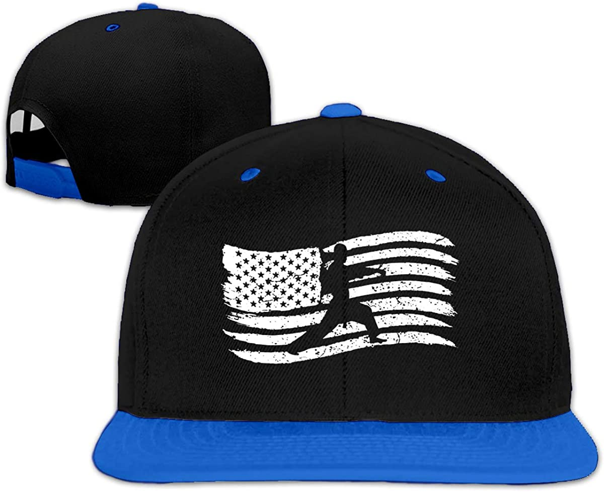 XinT Karate Flag Unisex Solid Flat Bill Hip Hop Adjustable Snapback Hats Sunhat