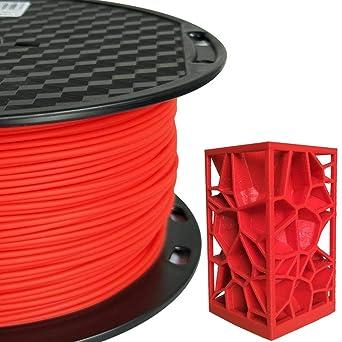 Amazon.com: Filamento PLA MAX PLA rojo 0.069 in filamento de ...