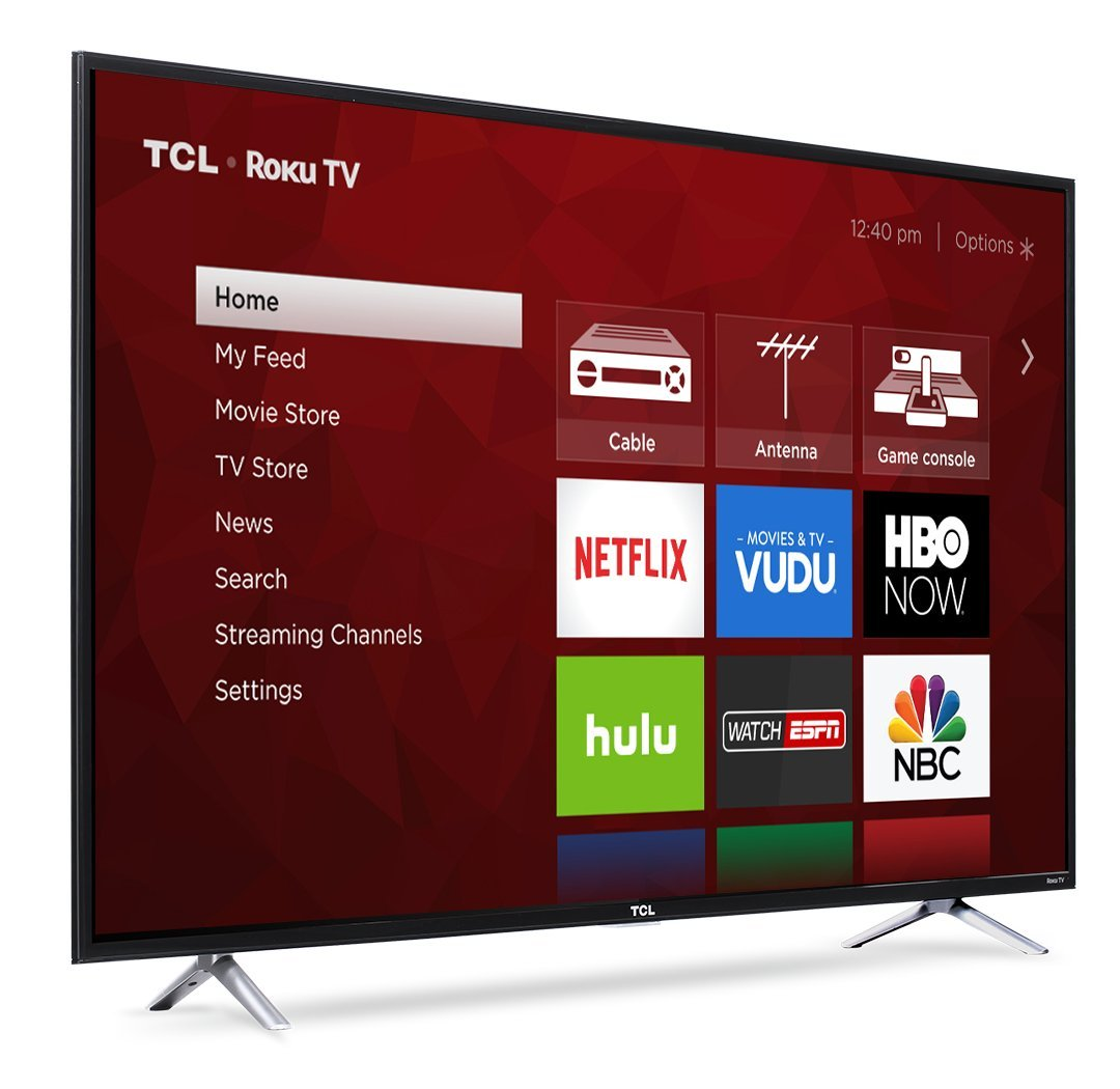 TCL 55S405 55-Inch 4K Ultra HD Roku Smart LED TV (2017 Model) by TCL