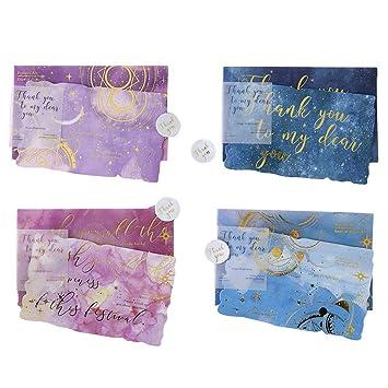 Toyvian Kit Sobre Carta Carta de felicitación de oro Sobres ...