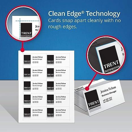Amazon.com: Avery 8859 - Tarjetas de visita imprimibles para ...