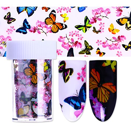 1 Sets Holographic Series Nail Art Sticker Flower Plaid Line Silver Holo Starry Water Transfer Nails Wrap Paint Tattoos Stamping Plates Templates Tools Tips Kits Brainy Popular Decals Kit, -
