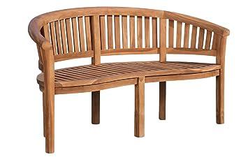 CLP Banc de Jardin en Bois de Teck WINNIPEG– Banquette de Jardin en Bois  avec Dossier - Résistant aux Intempéries – Chaise de Jardin en Bois 3  Places ...