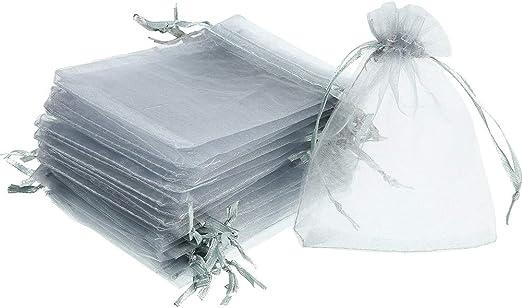 30 Organzabeutel Organzasäckchen Grau 10 x 15cm Geschenkbeutel