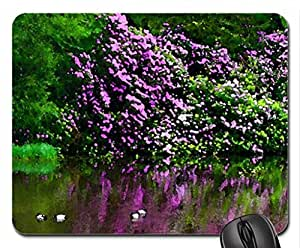 Garden pond Mouse Pad, Mousepad (Lakes Mouse Pad, Watercolor style) by runtopwell