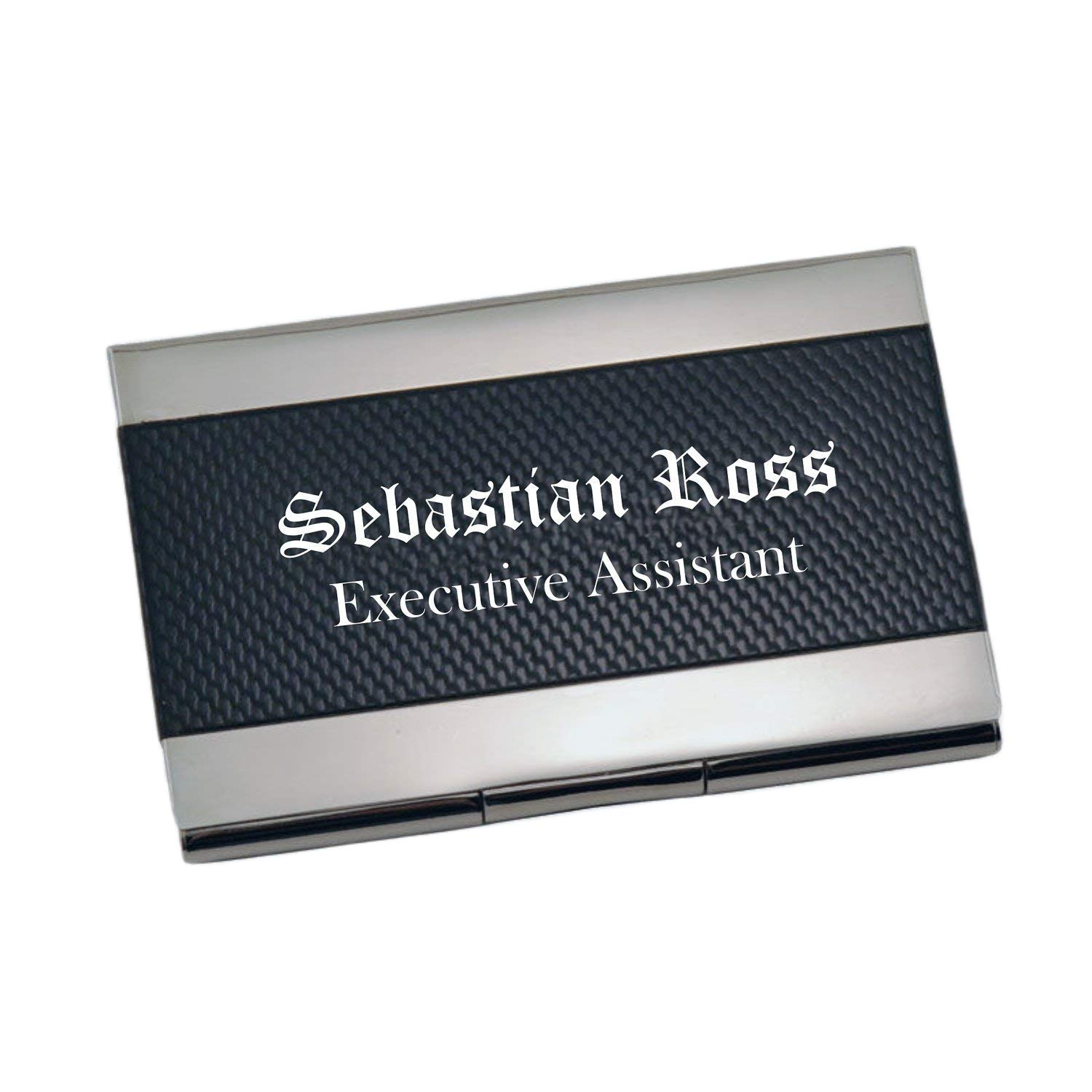 Personalized Carbon Fiber Business Card Case Holder Custom Engraved Free