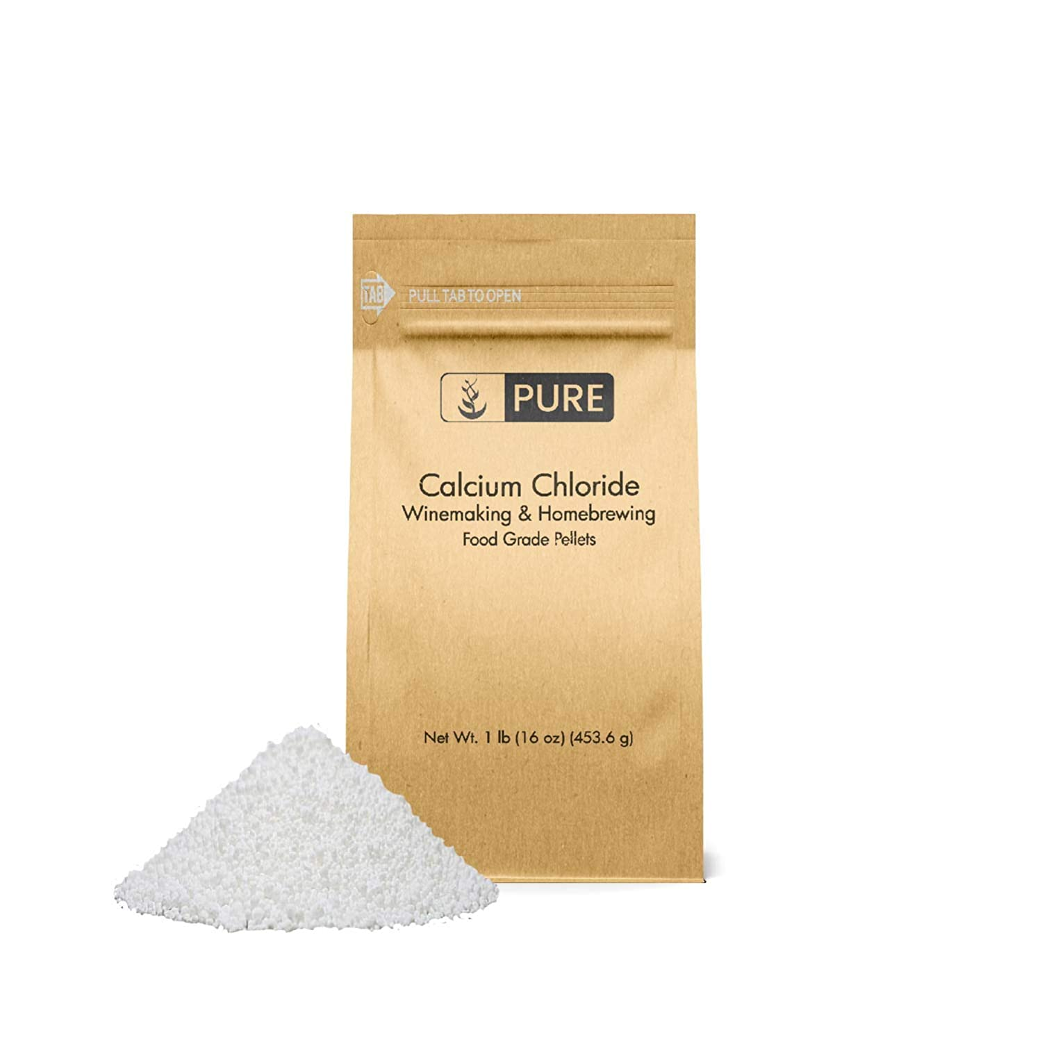 Calcium Chloride (1 lb.) by Pure Organic Ingredients, Eco-Friendly Packaging, Highest Quality, Food Grade, Wine Making, Home Brew, Cheese Making 61dAf799ffL