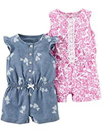 Girls' 2-Pack One Piece Romper