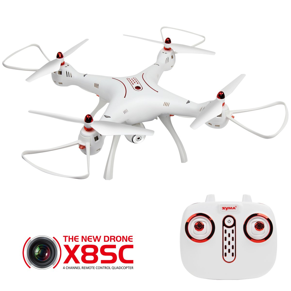 X8sc Syma X8SC RC Drohne mit 2.0MP HD Kamera Kopflosmodus One Key Start  Landung Höhesaufstellung 4CH 6-Achsen Quadrocopter RTF Für Anfänger Kinder