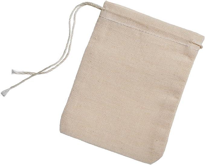 100/% Organic Cotton Double Drawstring Reusable Premium Quality Muslin Bags /& Favors GOTS Certified Bags 75 pcs Muslin Bags Choose Size.