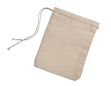 1afa2fa1afd0 Image Unavailable. Image not available for. Color: Cotton Muslin Bags 3x4  Inch Drawstring ...