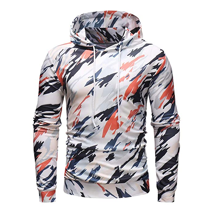 Amazon.com: Camouflage Hoodies Sweatshirt Men Casual Streetwear Slim Fit Long Sleeve Hip Hop 3D Hoody: Clothing