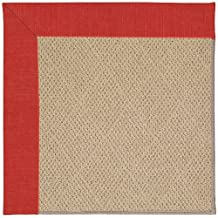 "9' x 12' Rectangular Made-to-Order Oscar Isberian Rugs Area Rug Red Crimson Color Machine Made USA ""Zoe Collection"" Cane Wicker Design"