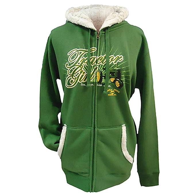 John Deere - Sudadera - para mujer verde Color small: Amazon.es: Ropa y accesorios