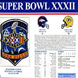 super bowl 32 patch - Super Bowl 32 Patch and Game Details Card