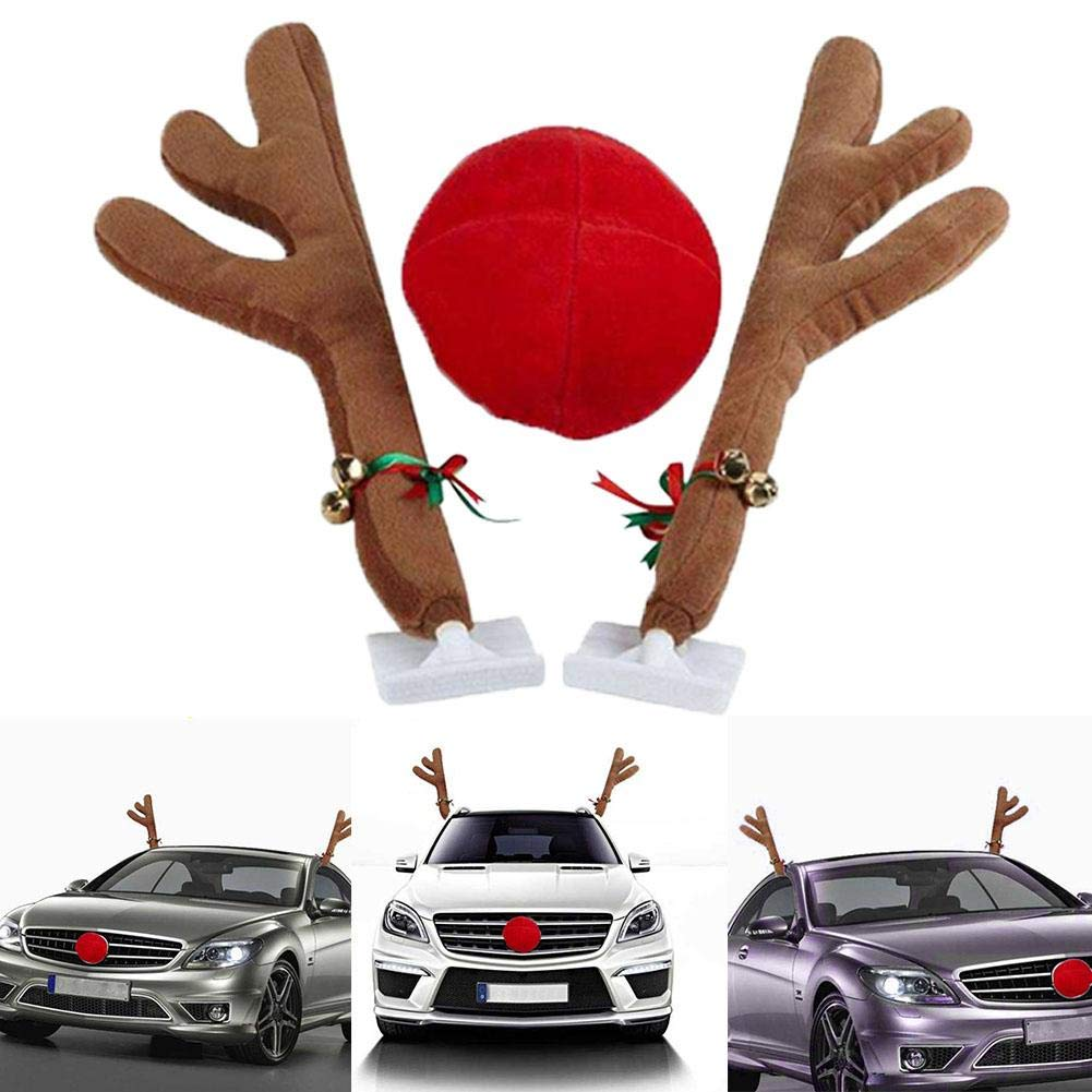 Christmas Car Decorations.Amazon Com Cheng Store Christmas Car Decorations Reindeer