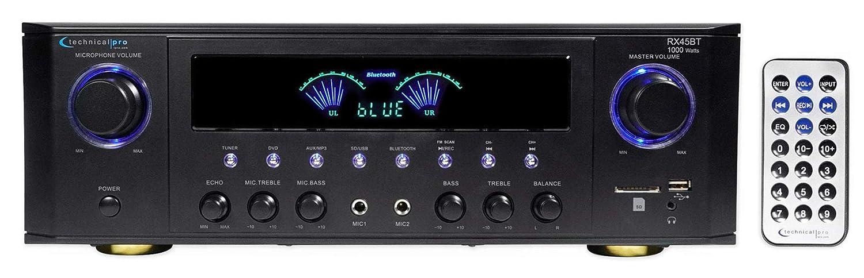 Technical Pro RX41BT Hybrid Professional Amplifier Receiver w/Bluetooth USB/SD