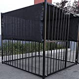 FenceSmart4U 5' X 15' Black UV Rated Dog Kennel Shade Cover, Sunblock Shade...