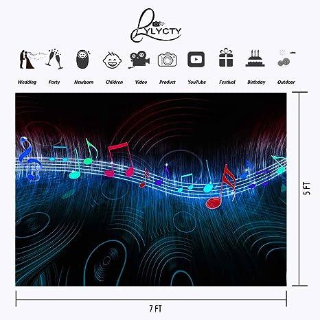 LYLYCTY LYLX454 - Música de telón de Fondo con diseño de símbolo de música clásica, para fotografía, Fondo, Fotos, Decoraciones de Interior: Amazon.es: ...