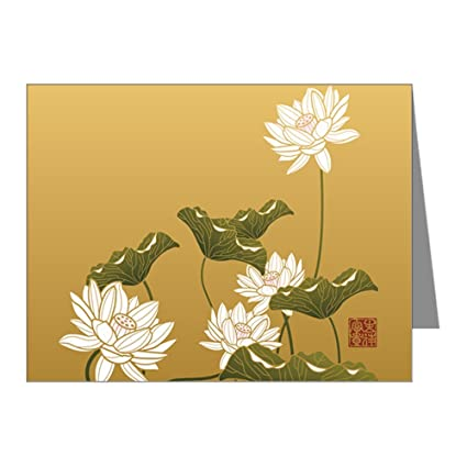 amazon com greeting card lotus flower chinese flag office products