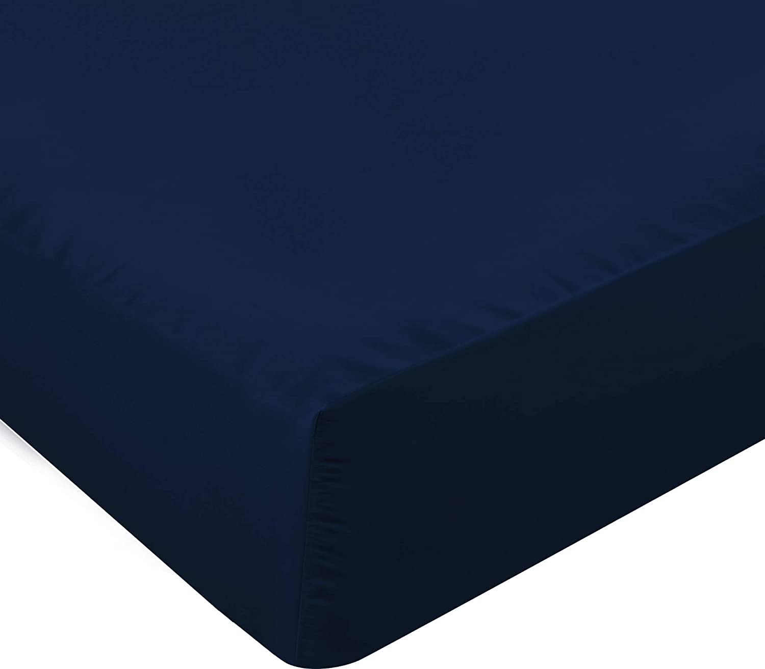 35 cm - Easy Care Soft Brushed Microfibre Fabric Wrinkle Double, White Deep Pocket 14 inch Shrinkage and Fade Resistant Utopia Bedding Fitted Sheet