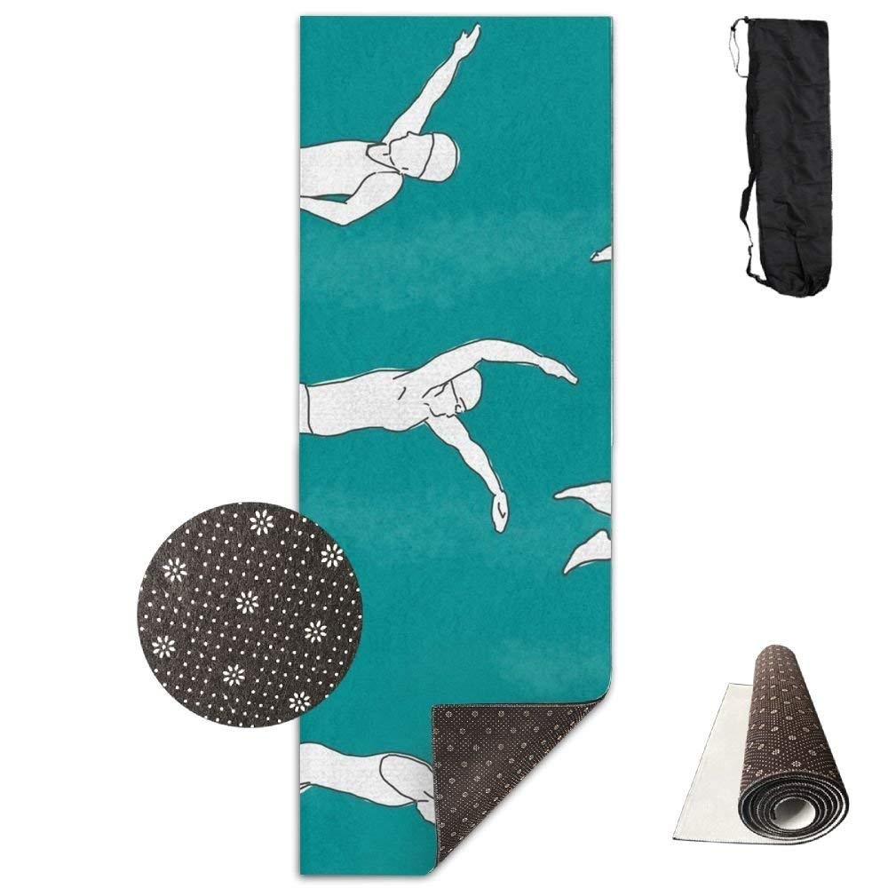 Swimmers,Yoga Towel Exercise Mat Non-Slip High Density Waterproof Yoga Mats Fitness