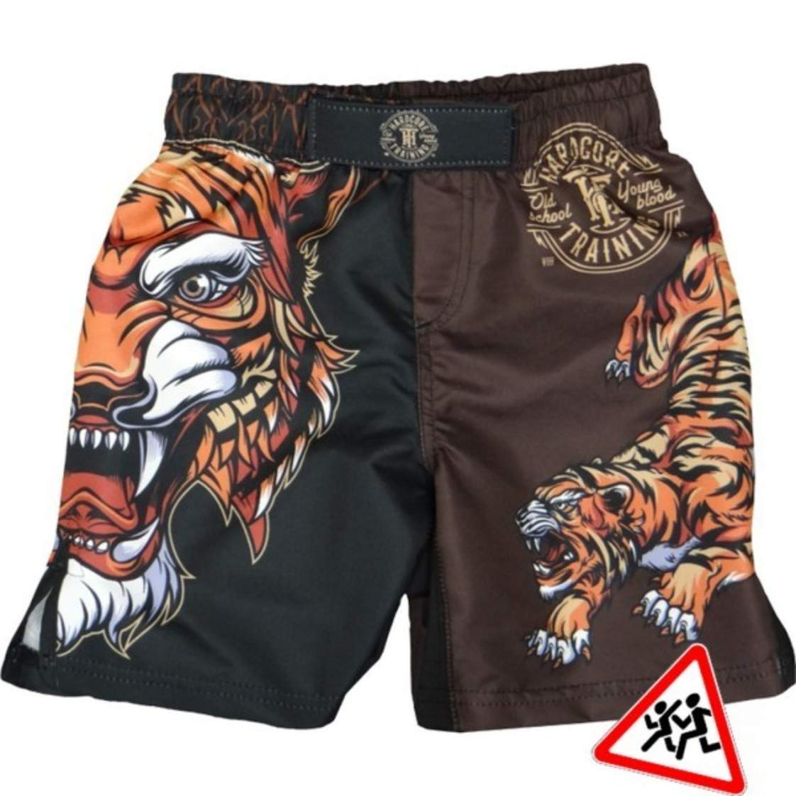 Hardcore Training Kids Sport Shorts Tiger - for Boy - Kids Sport Wear Black by Hardcore Training