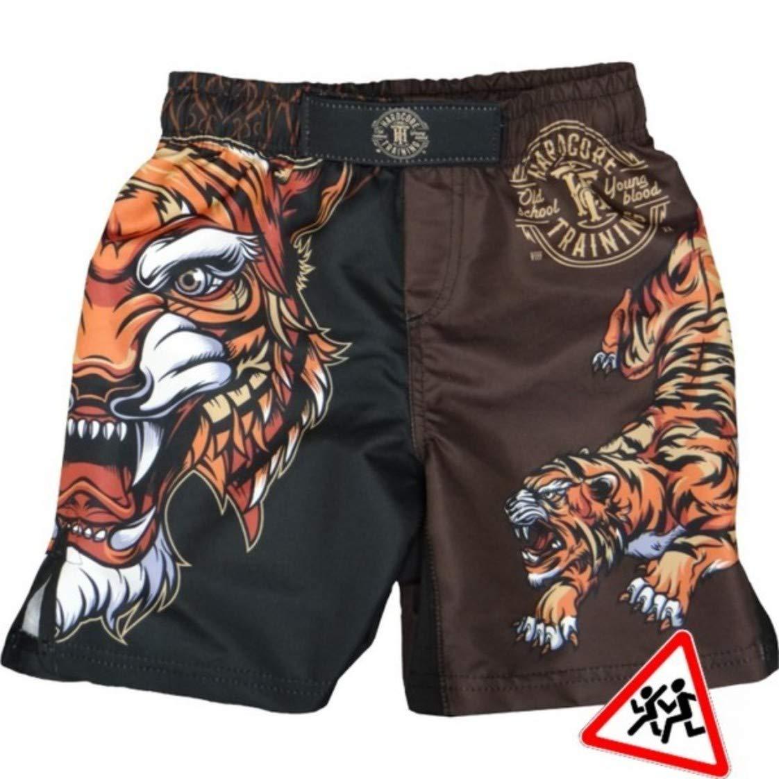 Hardcore Training Kids Shorts Tiger-10 Years Black