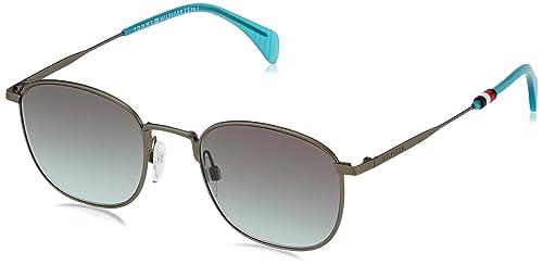 Tommy Hilfiger Unisex-Erwachsene Sonnenbrille TH 1469/S EQ, Schwarz (Smtt Dkruthe), 52